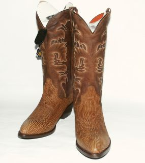 Mens DP2358 Bay Apache Soft Shark Skin Leather Western Boots