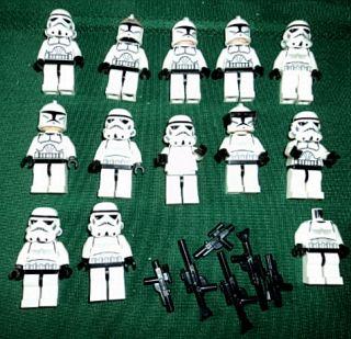 Lot Lego Minifigs Star Wars Clone Wars Storm Trooper