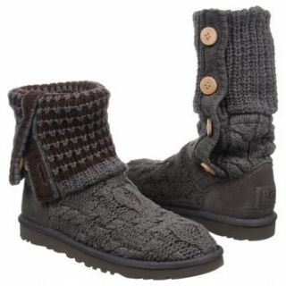 NEW Ugg Leland Womens GREY Boots Charcoal Espresso Size 7 SHIPS