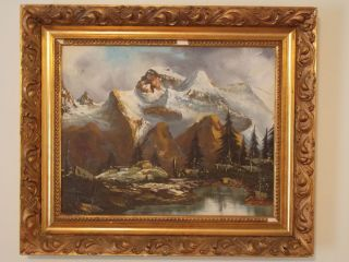 Lemke Original Canvas Oil Painting with Frame