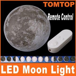 Remote Control LED Wall Night Light Moonlight Healing Moon Lamp Bulb