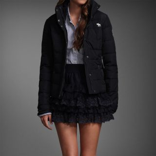 New Abercrombie Fitch Womens Leigh Down Puffer Jacket Coat Outwear