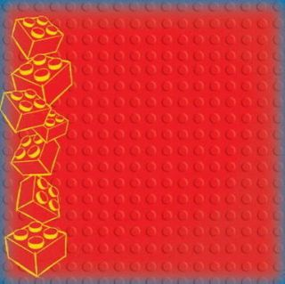12x12 Creative Imaginations Lego Border Red Scrapbooking Paper 21587