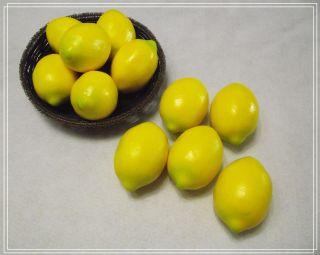 10 x Lemons Decorative Plastic Artificial Fruit Party