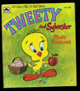 Vintage Tweety and Sylvester Picnic Problems Tell A Tale Whitman Book