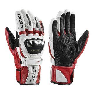 Leki World Cup Racing Titanium S Ski Racing Gloves X Large White Red