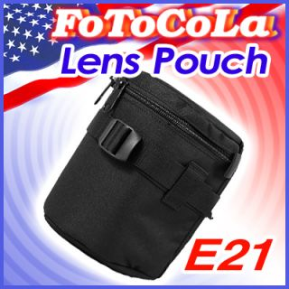 Padded Camera Lens Bag Case Cover Pouch Protector E21