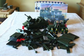Lego compatible Military ARMY SET JEEP TRUCK TANK & MINIFIGS