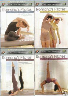 Romanas Pilates Mat Workout Fat Burning New 4 DVD Set