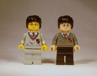 Lego Harry Potter Minifig Lot of 2   4842 Flesh Tone & 4702 Yellow