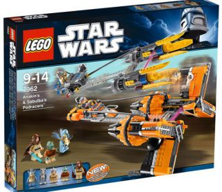 Star Wars Lego Set 7962 Anakin and Sebulbas Podracers