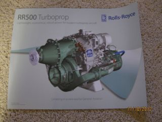 2009 Rolls Royce RR500 Turboprop Engine Promo Poster