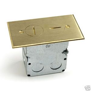 Lew Electric SWB 2 Floor Box Brass Cover Plate 4pack