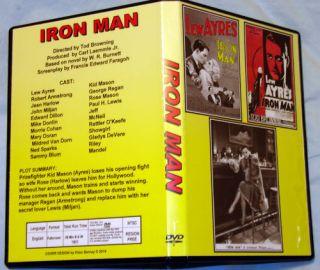 Iron Man DVD Lew Ayres Robert Armstrong