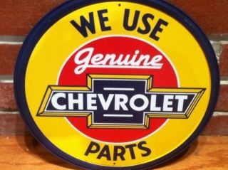 1960s Chevy Genuine Parts Metal Sign Vintage Antique Barn Find Style