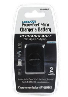 Lenmar PowerPoint Mini Charger and Battery Cell Phone