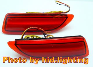 Red Lens LED Bumper Reflector for Lexus CT200H Toyota Corolla Add on