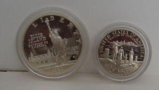 1986 s United States Silver Liberty Set Statue of Liberty Ellis Island