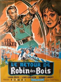 Return of The Robin Hood 1959 Lex Barker French 47x63