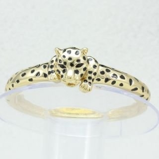 Vogue Gold Tone Animal Panther Leopard Bracelet Bangle Cuff