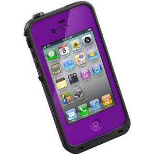 New Purple Lifeproof Waterproof Case Apple iPhone 4 4S Water Life Dirt