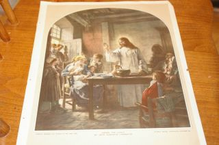 Among The Lowly Jesus Print by Leon Augustin Lhermitte