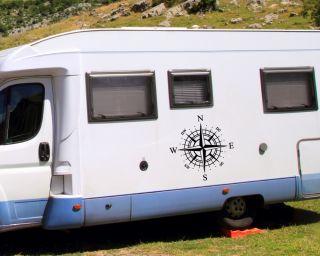 WA101 Wohnmobil Aufkleber Wohnwagen Recreational Vehicle Kompassrose