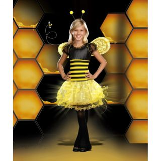 Busy Lil Bee Kids Halloween Light Up Costume Party Girl Layered Skirt