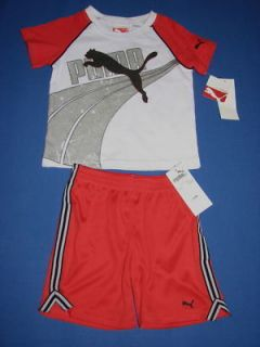 Puma Toddler Boys T Shirt Shorts 2 Piece Set 24M