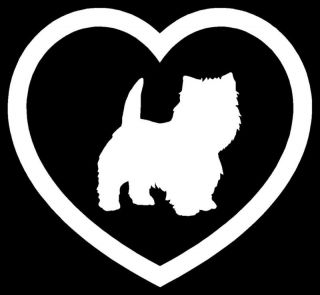 Westie Heart Sticker Terrier Dog Puppy Car Vinyl Decal