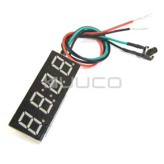 Small 0 4 Digital Clock Yellow LED Dispaly Panel Car Motorcycle DC12V