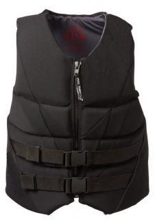 Throttle Adult Black Hinged Neoprene Large Life Jacket Vest
