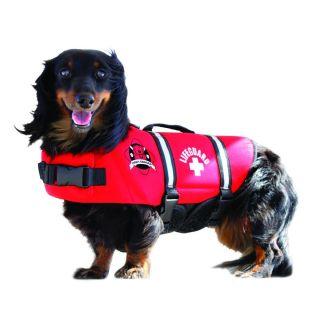 Paws Aboard Red Neoprene Dog Life Jacket