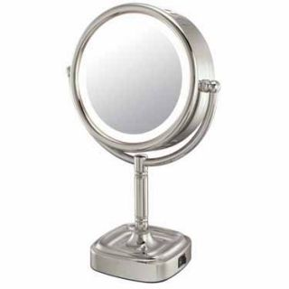 5X Magnifying Lighted Bathroom Pedestal Vanity Makeup Mirror CLEARANCE