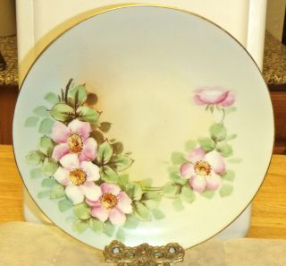 Antique Limoges China Plate w Roses