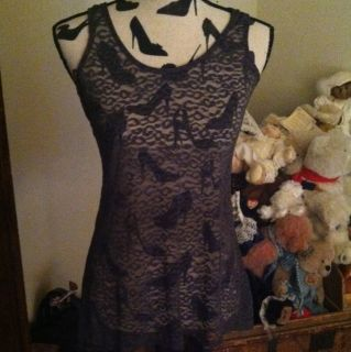 Lacy Cami Tank by Lily White in Sz M BNWT
