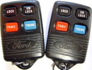 LOT OF TWO Lincoln Mark Series KEYLESS REMOTE ENTRY KEY FOB ALARM