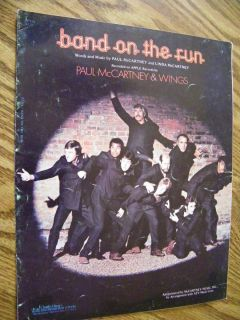 MUSIC BAND ON THE RUN BY PAUL AND LINDA McCARTNEY PAUL McCARTNEY WINGS