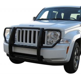 New Black Grille Saver Bumper Brush Guard 08 12 Jeep Liberty