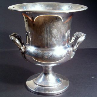 Bristol Silver by Poole Champagne Wine Ice Bucket with Insert