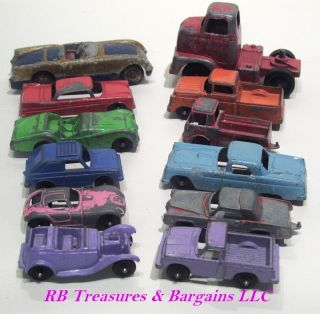 Lot of 12 Tootsie Toy Cars Trucks