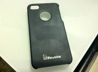 iPhone 4 4S Case Lifeworks Soft Touch Black Ultra Thin