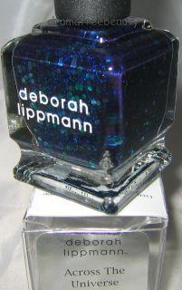 Deborah Lippmann Nail Polish ACROSS THE UNIVERSE Blue Teal Hex Glitter