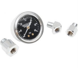 Oil Pressure Gauge Kit Liquid Filled Black Dial 84 99 Big Twin