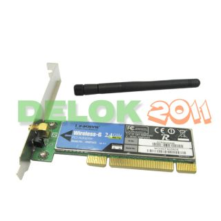 Linksys Wireless G PCI Card WiFi Adapter WMP54G 802 11g