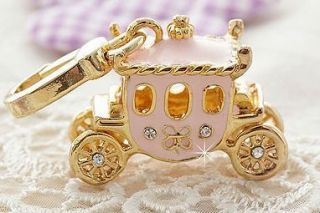 MG Co Pink Princess Carriage Pendant Charm Juicy Couture Blotter Card
