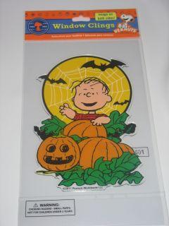 Jelz Gel Window Clings Peanuts Linus Great Pumpkin Patch NIP