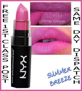 NYX Matte Lipstick Summer Breeze Bubblegum Pink BN