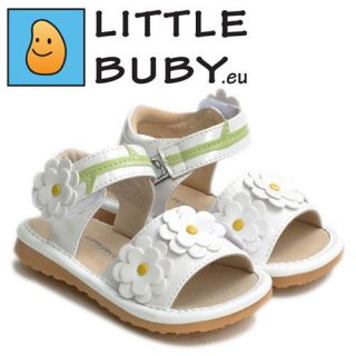 Little Blue Lamb Girls Kids Leather Childrens Squeaky Shoe Sandals Sq