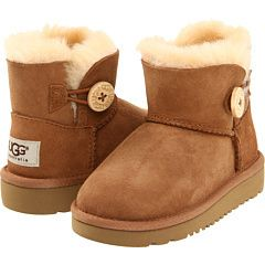 UGG Australia Toddler Little Kids Mini Bailey Button Chestnut 1000787